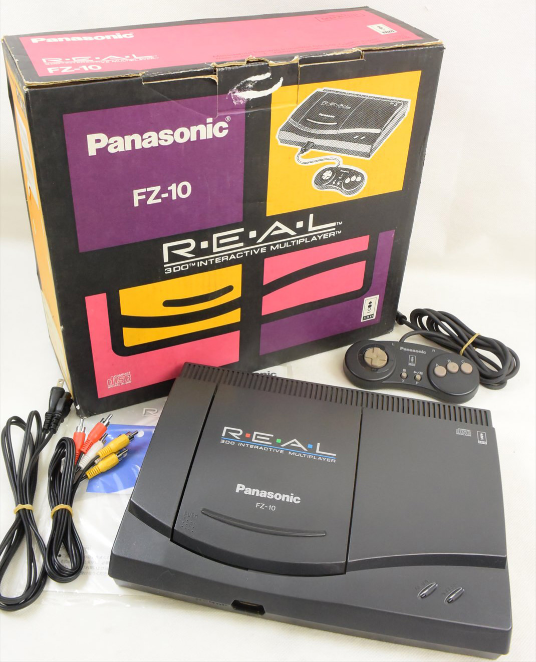 3DO REAL Console System FZ-10 Boxed GOOD Panasonic Tested ...