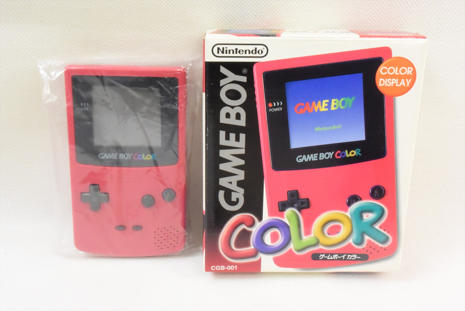Game boy color japan - Game Boy Color Red Console Boxed Item Ref 0722 Nintendo Cgb 001 Tested Japan Gb