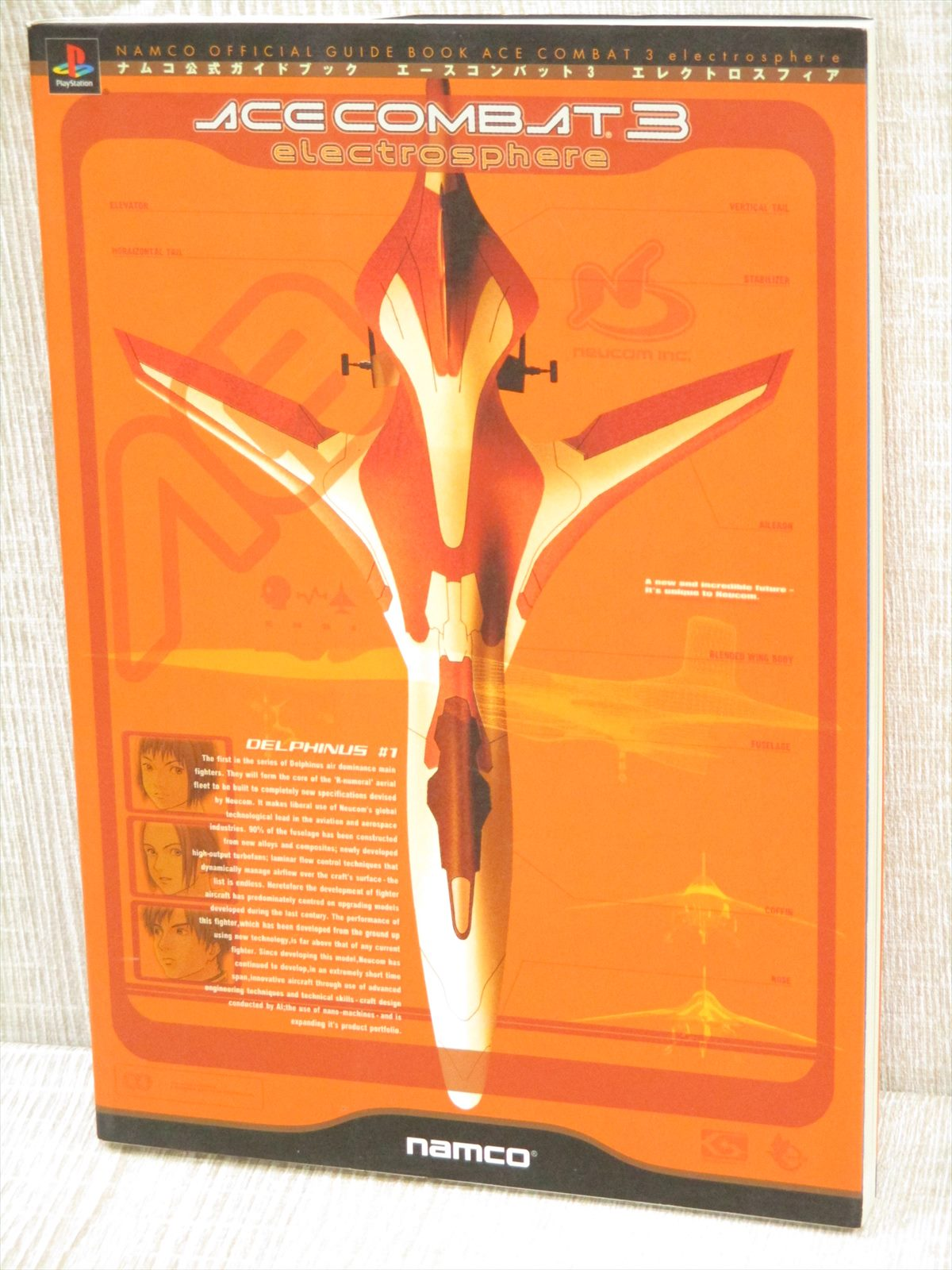 Details About Ace Combat 3 Electrosphere Guide Sony Ps 1999 Book Nm