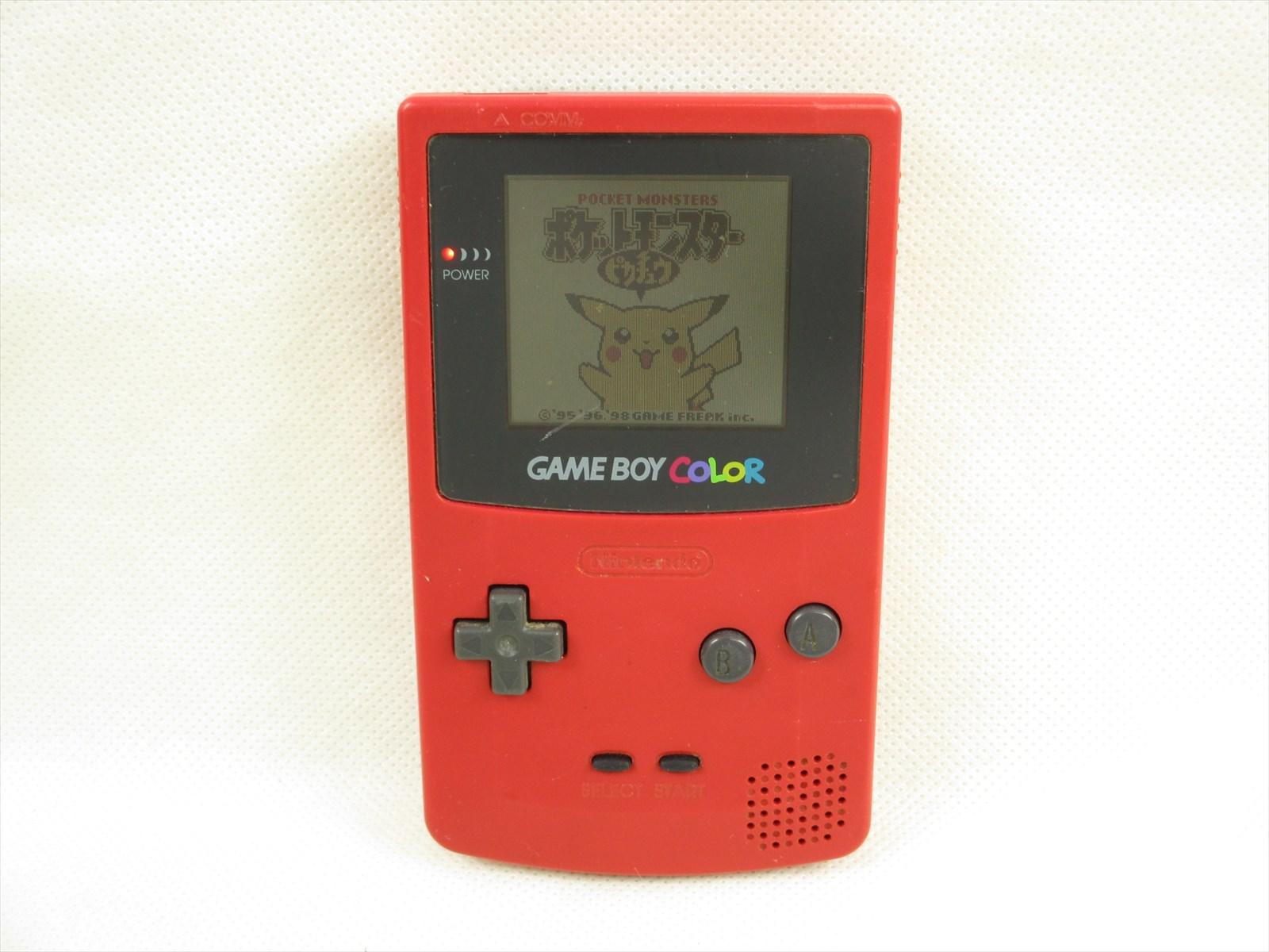 Game boy color japan - Game Boy Color Red Console System Nintendo Cgb 001 Ref 1513 Gameboy Japan Gb
